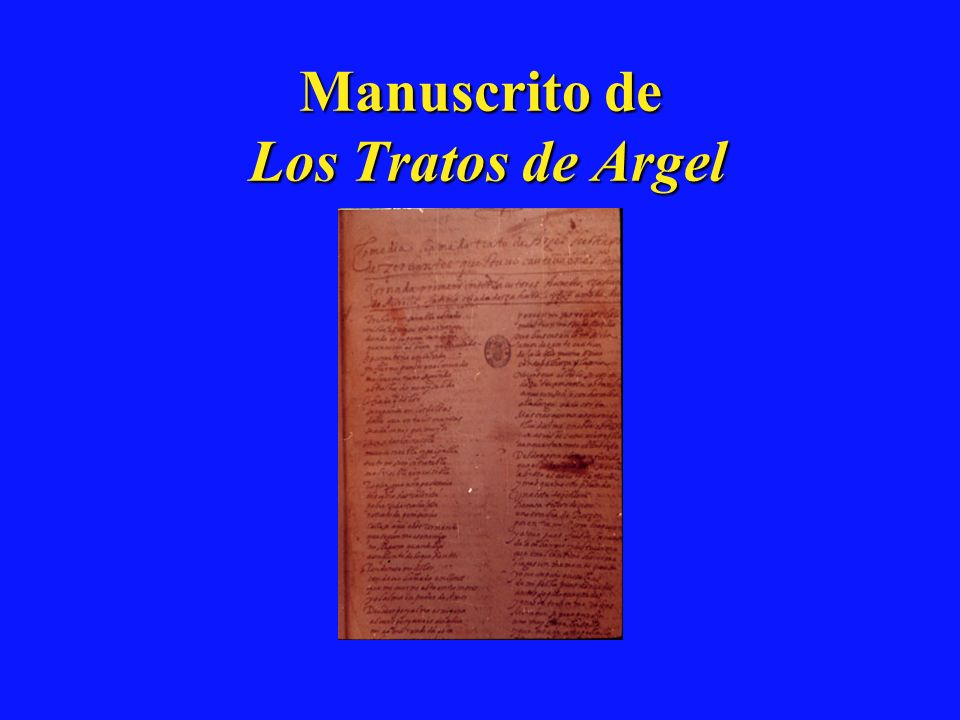 Manuscrito de Los Tratos de Argel