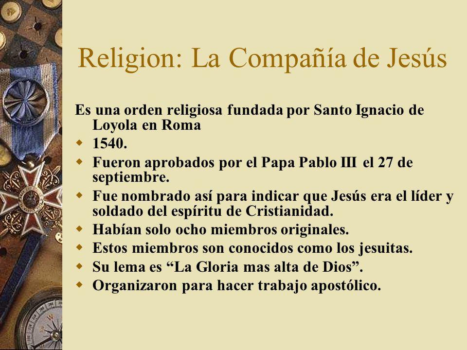 Religion: La Compañía de Jesús