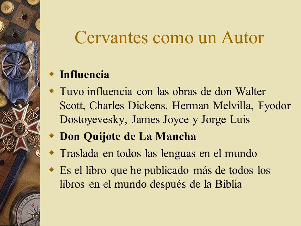 Cervantes como un Autor