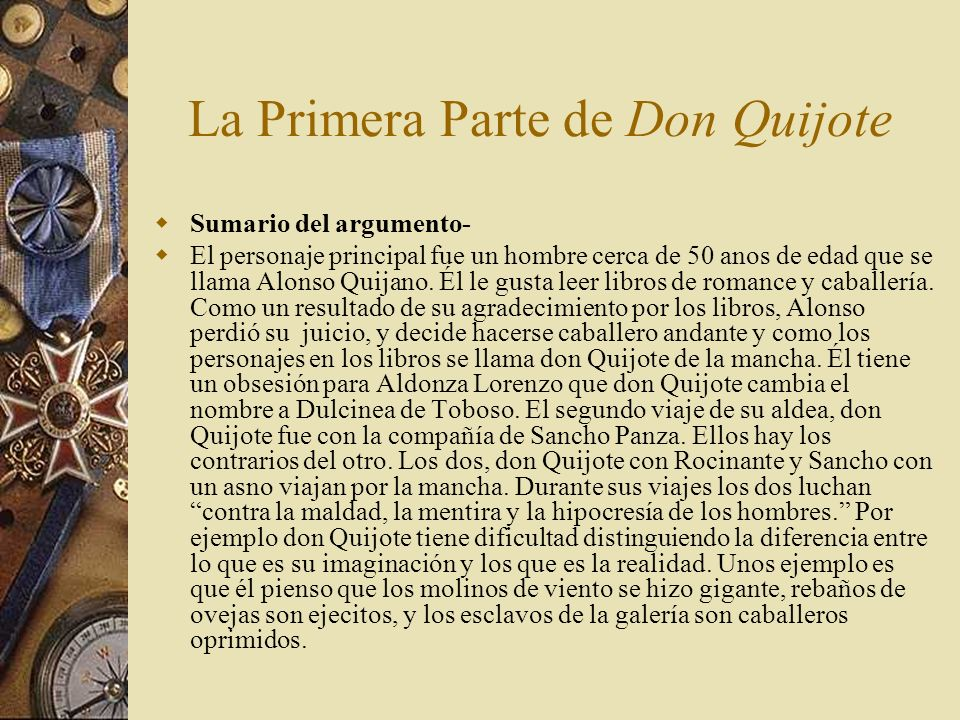 La Primera Parte de Don Quijote