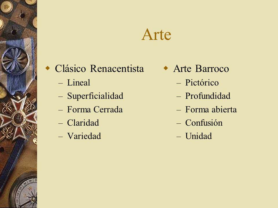 Arte Clásico Renacentista Arte Barroco Lineal Superficialidad
