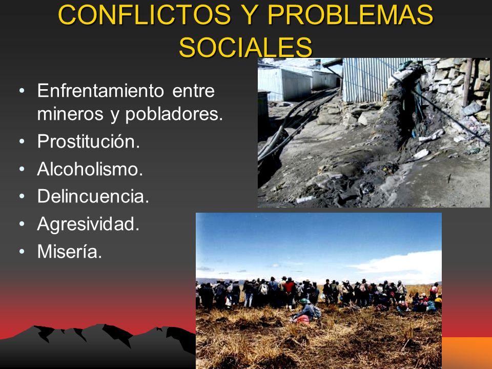 CONFLICTOS Y PROBLEMAS SOCIALES