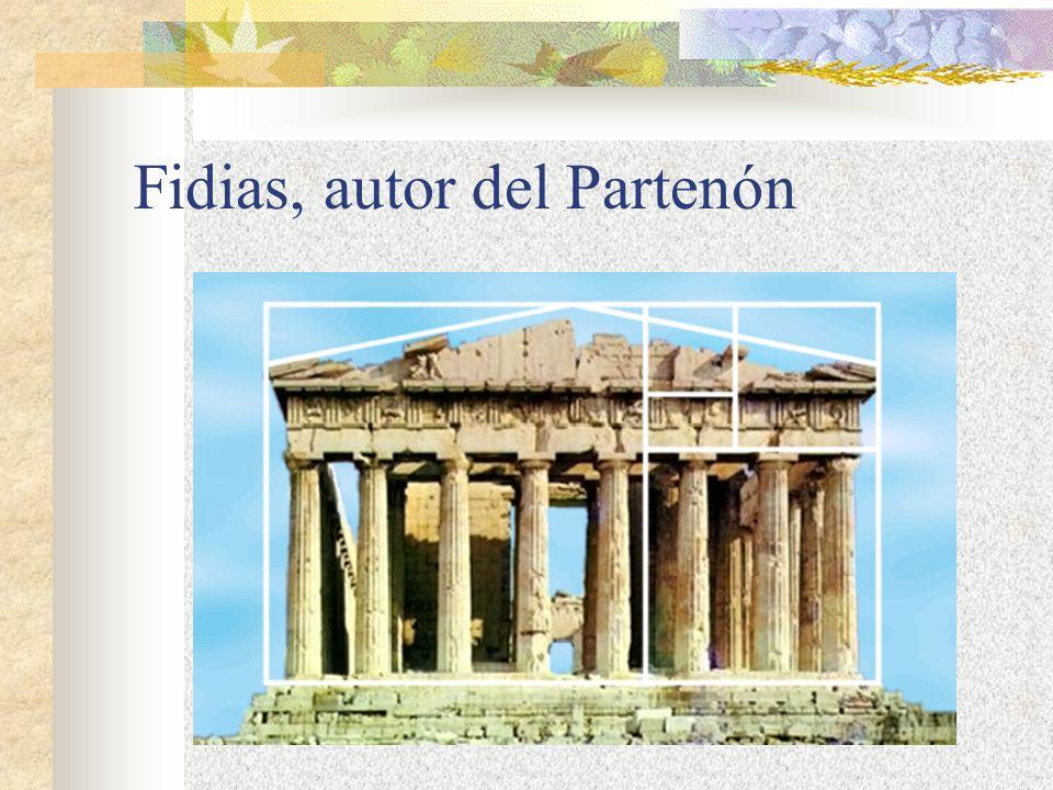 Fidias, autor del Partenón