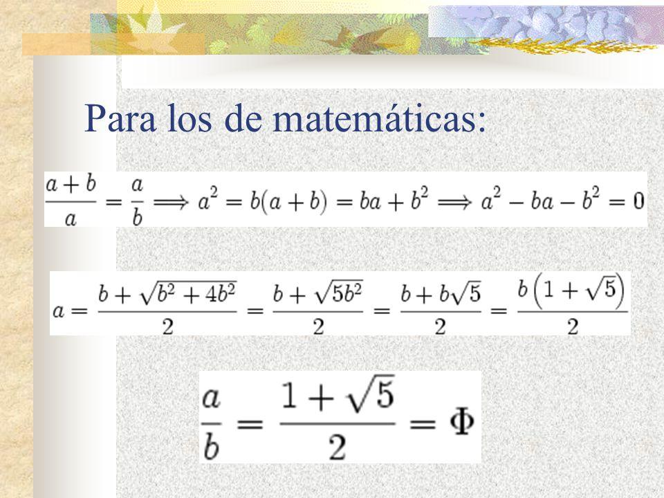 Para los de matemáticas: