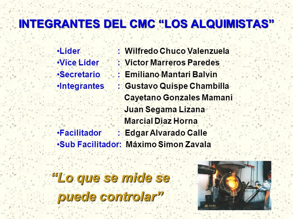 INTEGRANTES DEL CMC LOS ALQUIMISTAS