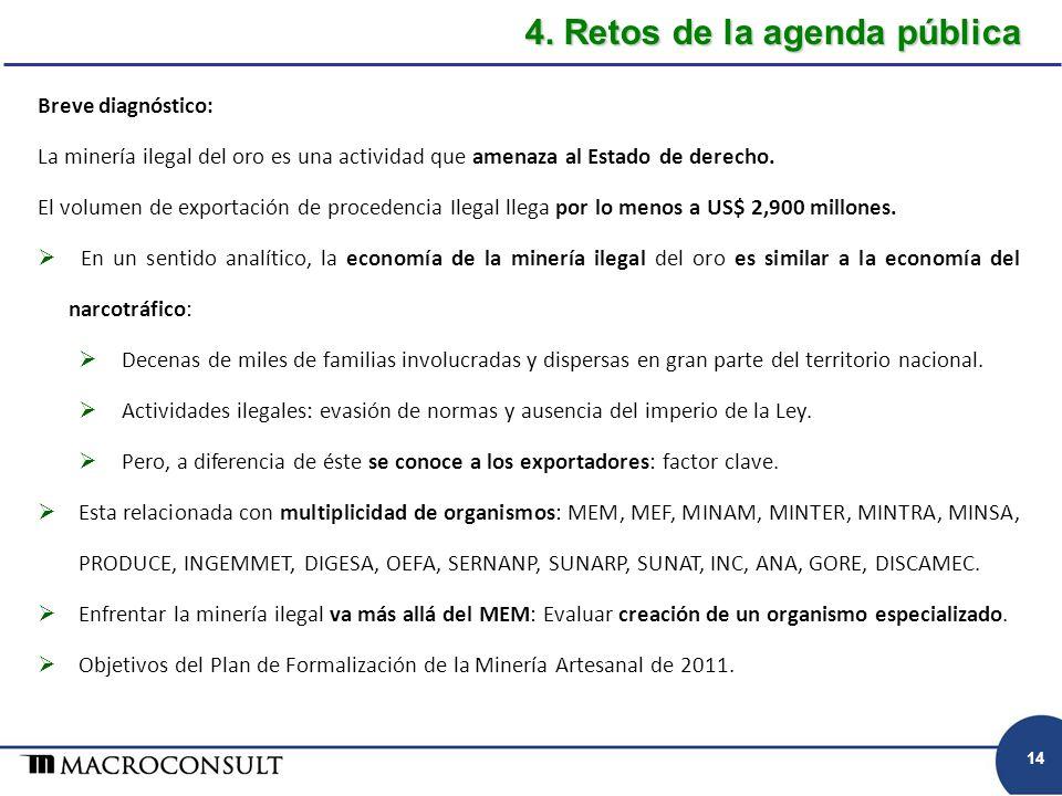 4. Retos de la agenda pública