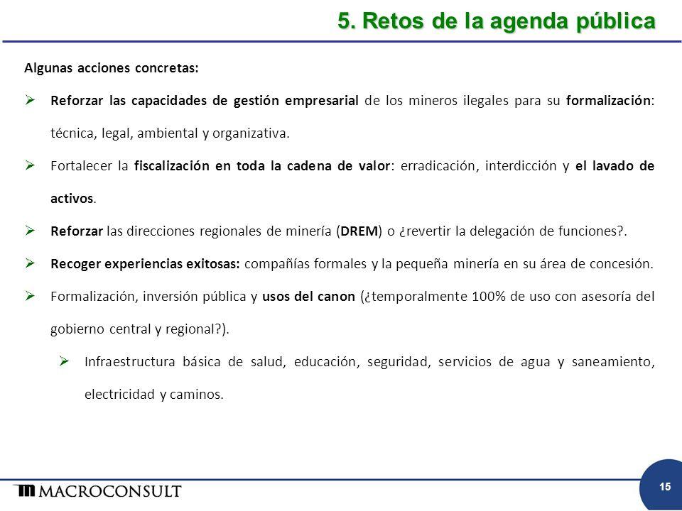 5. Retos de la agenda pública