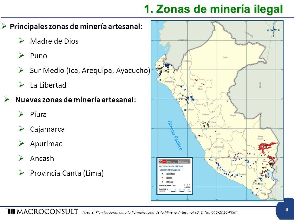1. Zonas de minería ilegal