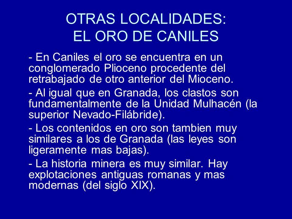 OTRAS LOCALIDADES: EL ORO DE CANILES