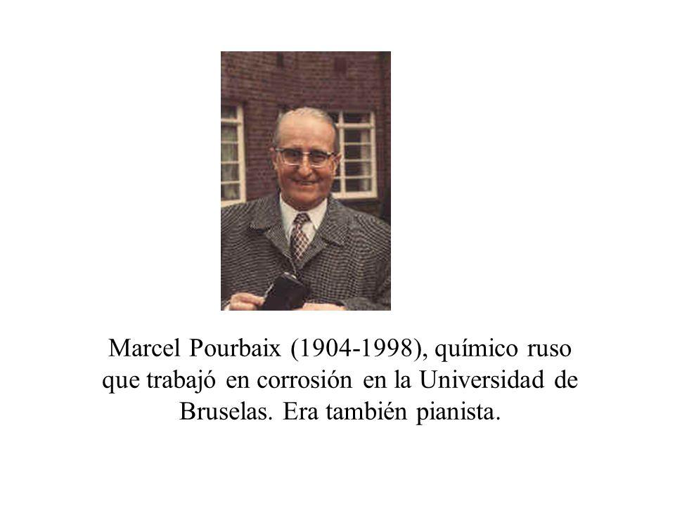 Marcel Pourbaix (1904-1998), químico ruso que trabajó en corrosión en la Universidad de Bruselas.