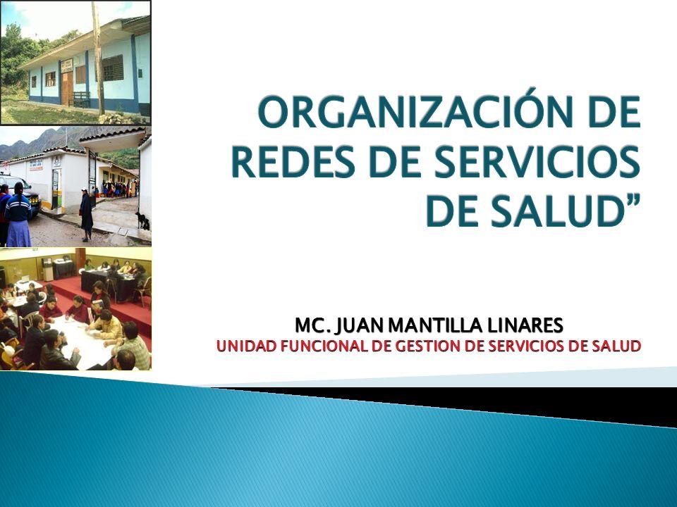 ORGANIZACIÓN DE REDES DE SERVICIOS DE SALUD