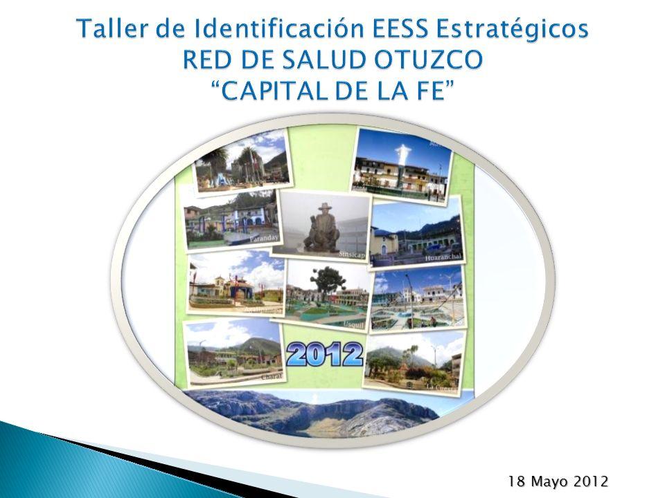 Taller de Identificación EESS Estratégicos RED DE SALUD OTUZCO CAPITAL DE LA FE