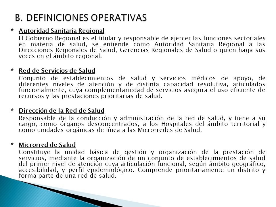 B. DEFINICIONES OPERATIVAS