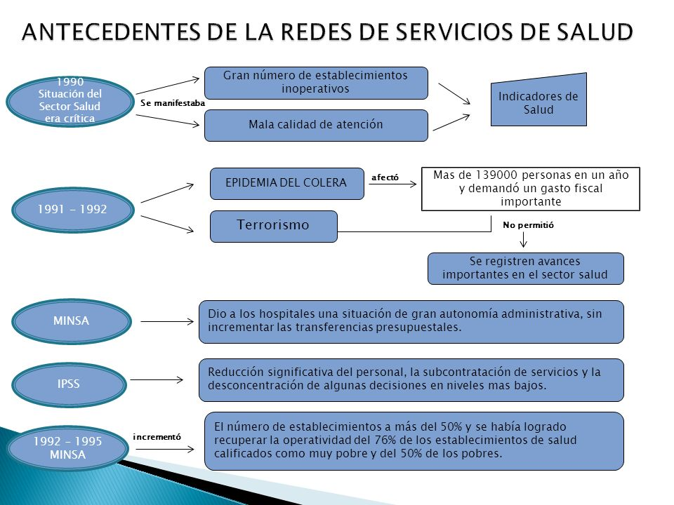 ANTECEDENTES DE LA REDES DE SERVICIOS DE SALUD