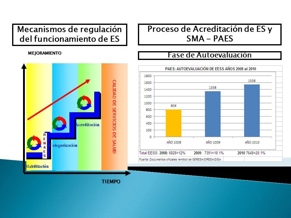 Mecanismos de regulación del funcionamiento de ES