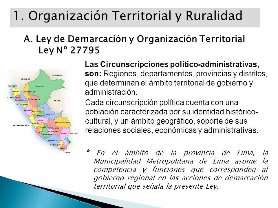 1. Organización Territorial y Ruralidad