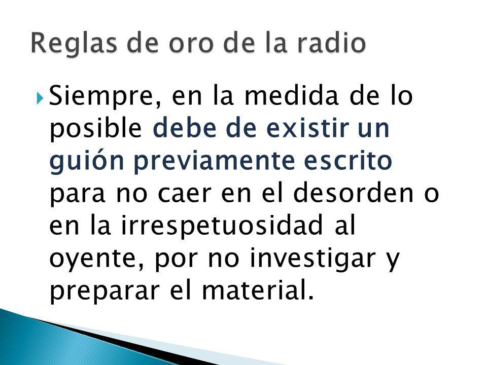 Reglas de oro de la radio
