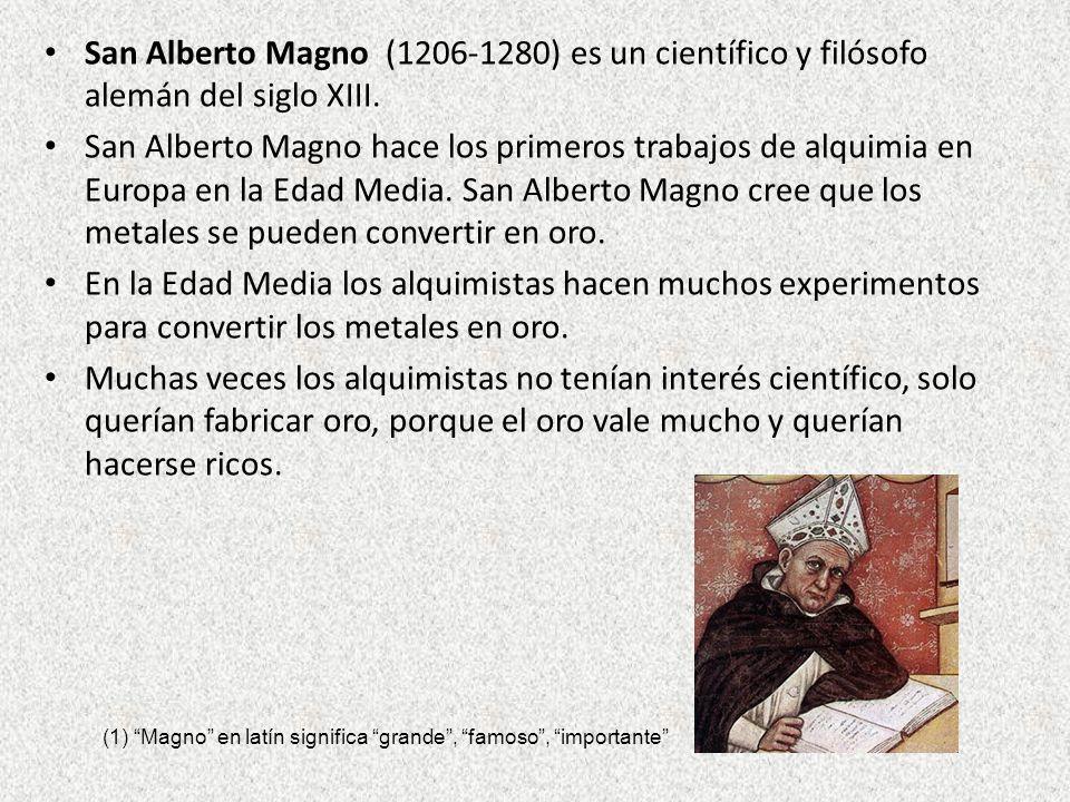 San Alberto Magno (1206-1280) es un científico y filósofo alemán del siglo XIII.