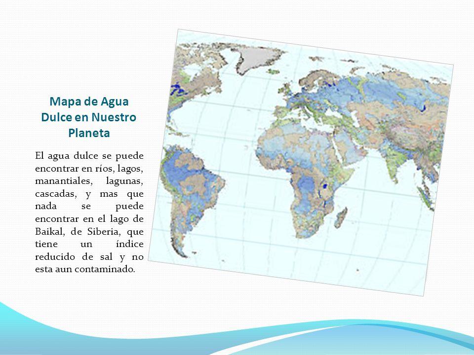 Mapa de Agua Dulce en Nuestro Planeta
