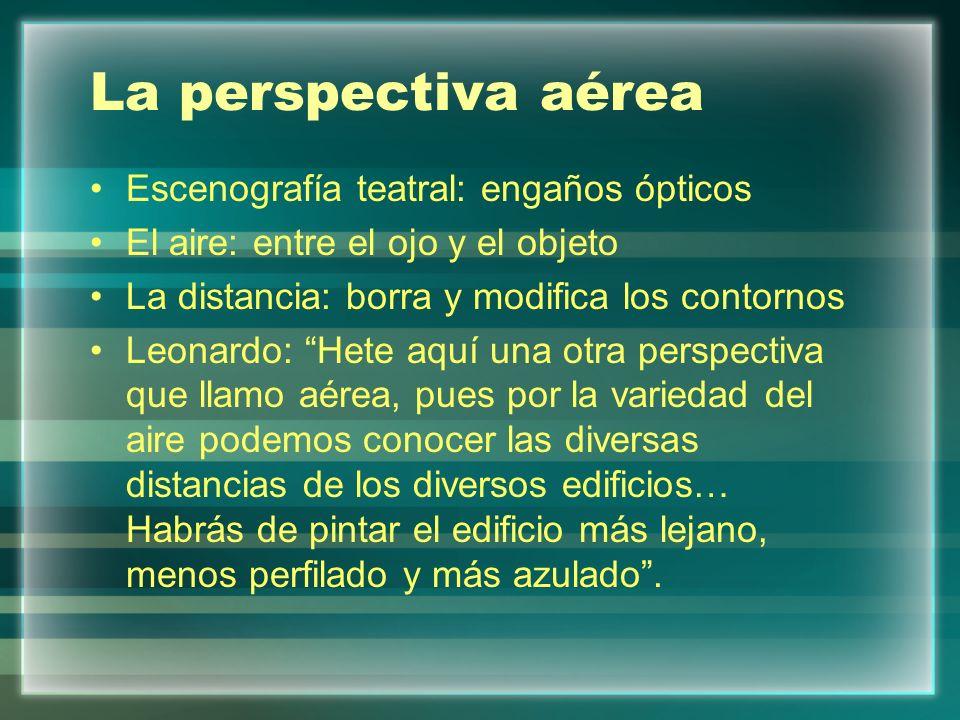 La perspectiva aérea Escenografía teatral: engaños ópticos