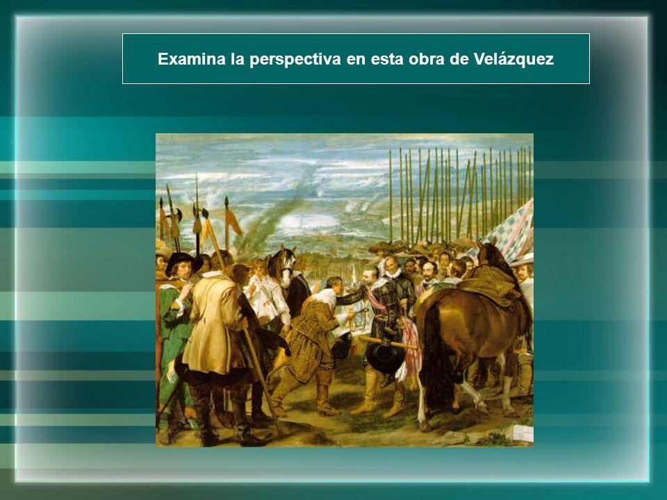 Examina la perspectiva en esta obra de Velázquez