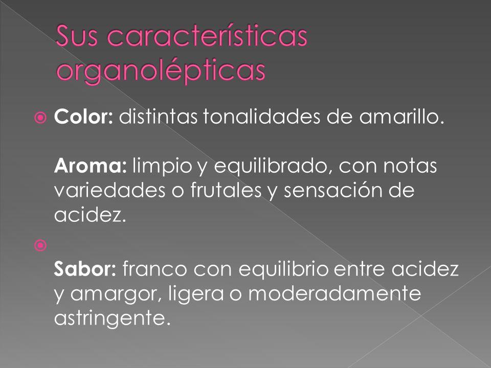 Sus características organolépticas