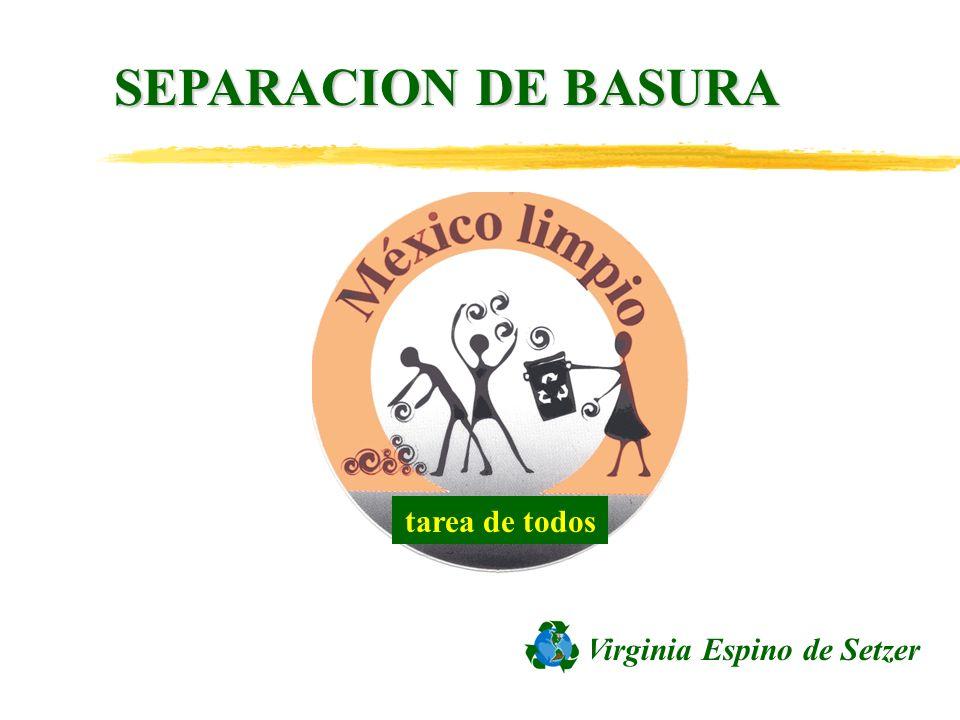 SEPARACION DE BASURA tarea de todos Virginia Espino de Setzer
