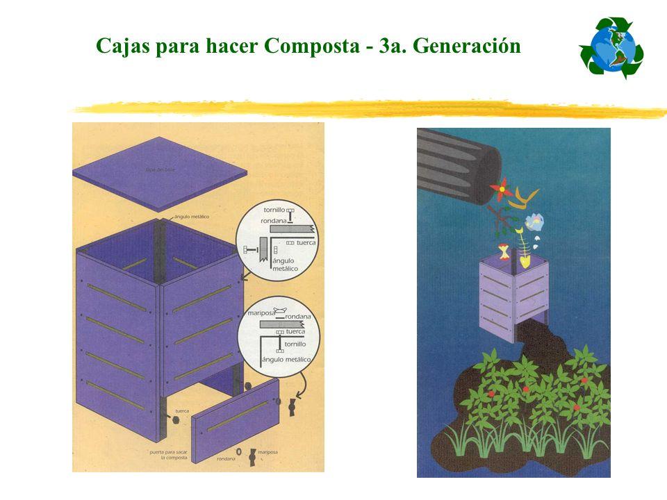 Cajas para hacer Composta - 3a. Generación