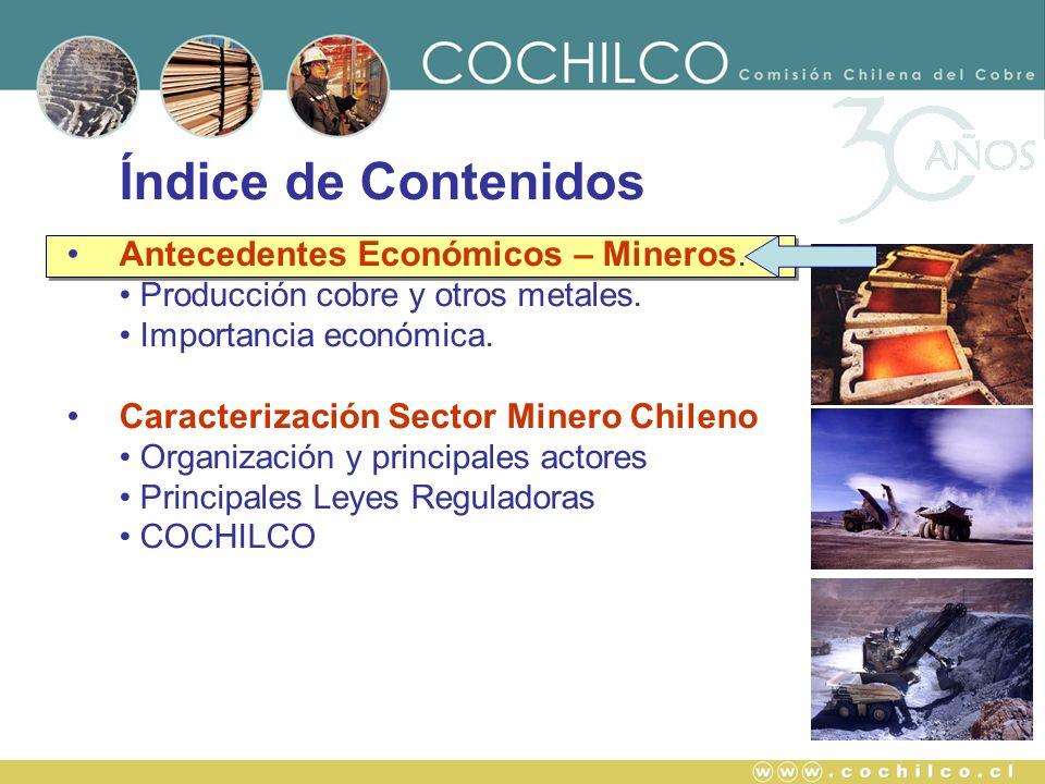 Índice de Contenidos Antecedentes Económicos – Mineros.