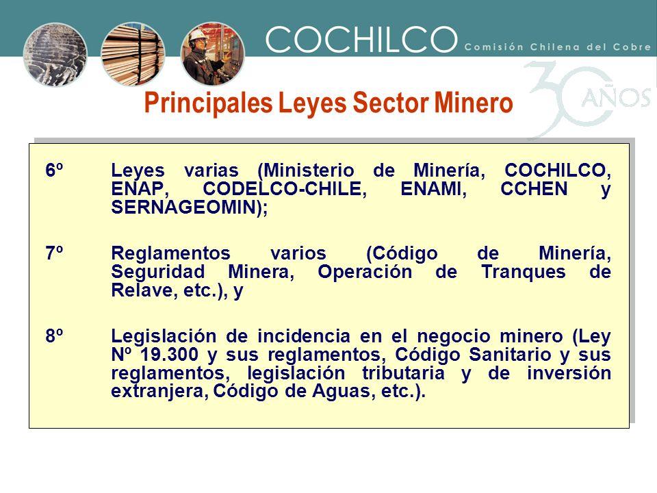 Principales Leyes Sector Minero