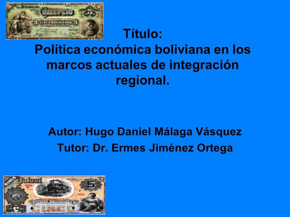 Autor: Hugo Daniel Málaga Vásquez Tutor: Dr. Ermes Jiménez Ortega