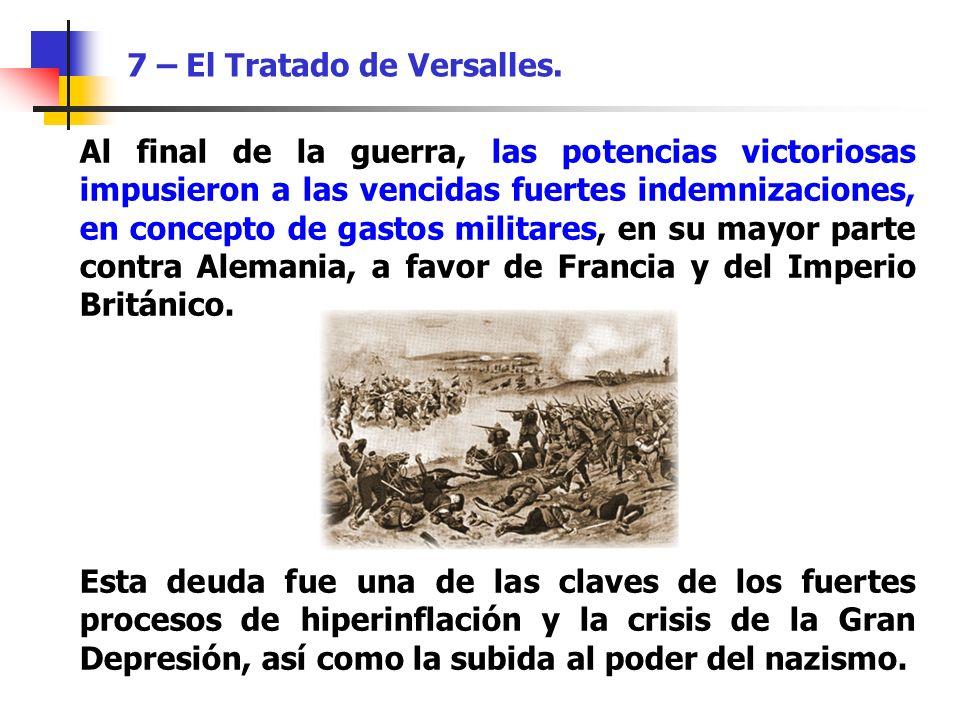 7 – El Tratado de Versalles.