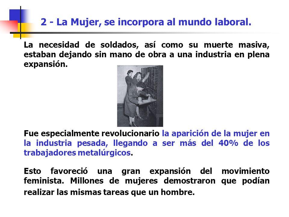 2 - La Mujer, se incorpora al mundo laboral.