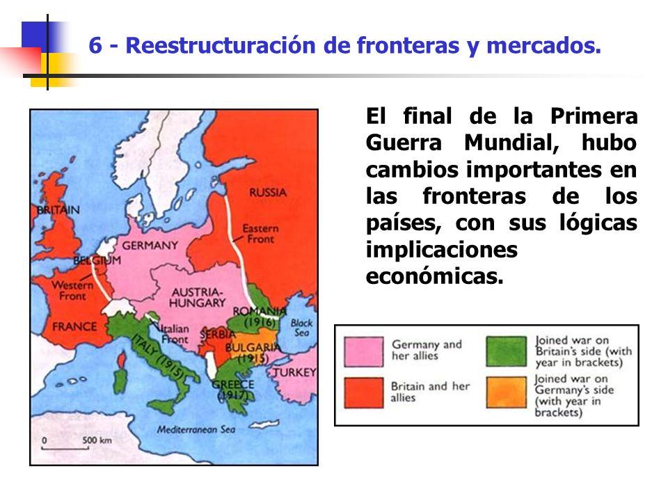 6 - Reestructuración de fronteras y mercados.