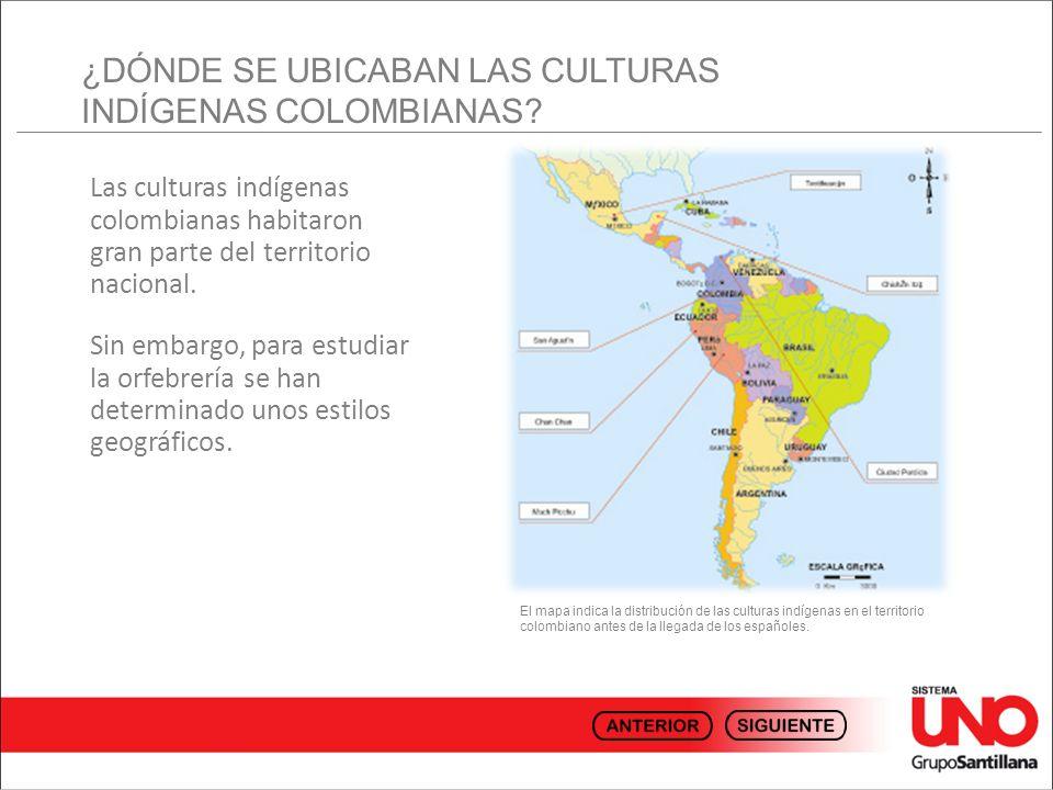 ¿DÓNDE SE UBICABAN LAS CULTURAS INDÍGENAS COLOMBIANAS