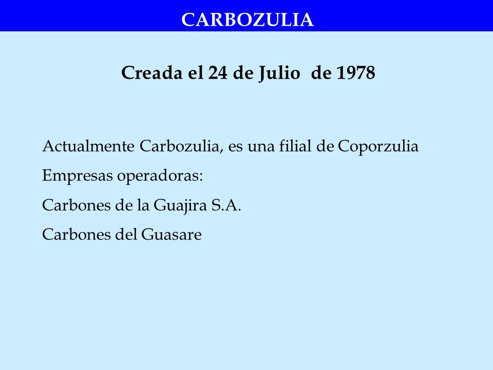 CARBOZULIA Creada el 24 de Julio de 1978