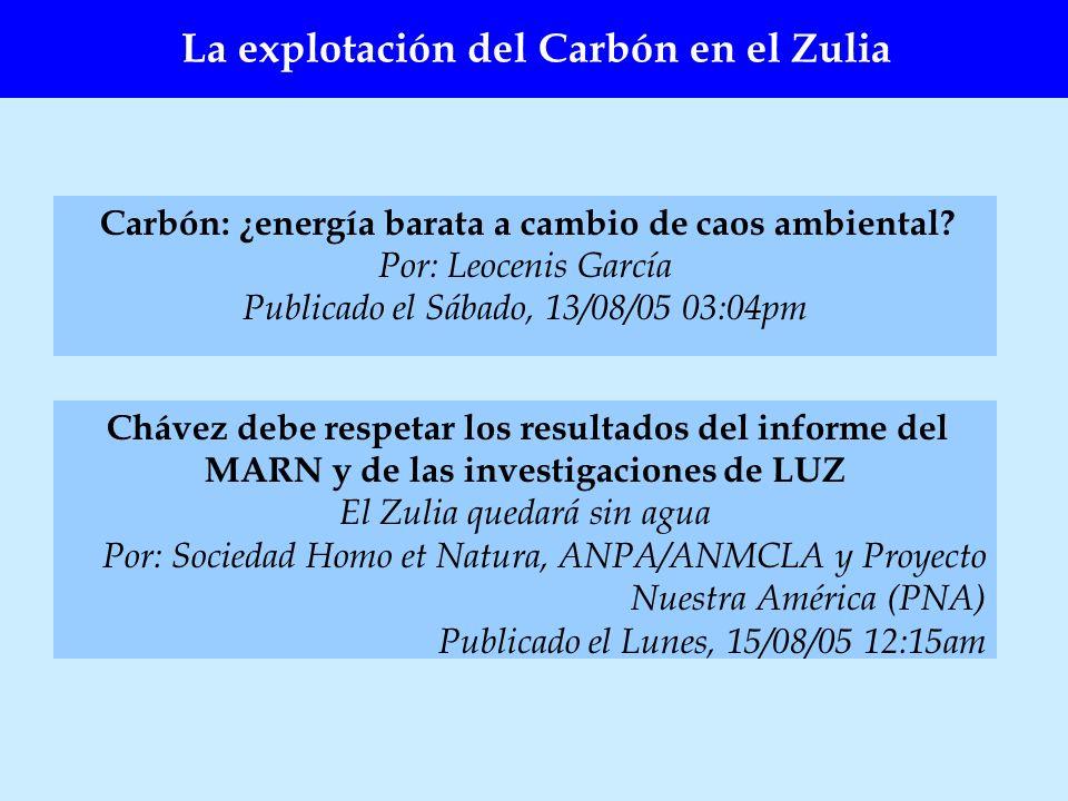 La explotación del Carbón en el Zulia