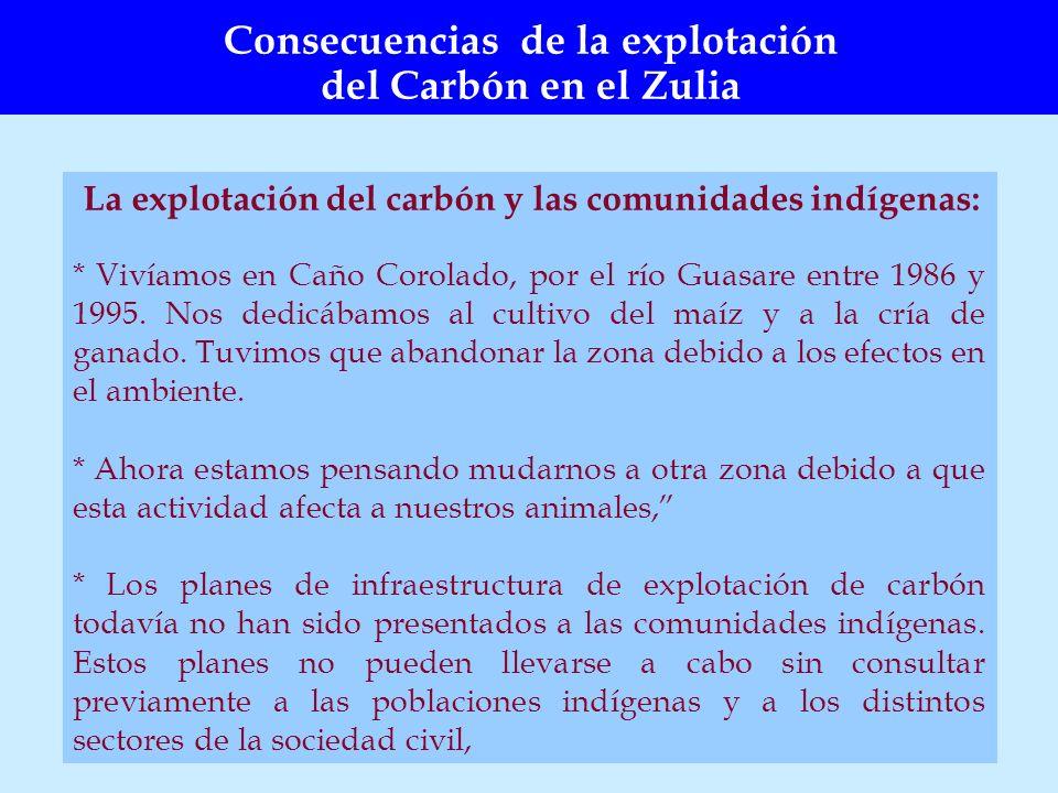 Consecuencias de la explotación del Carbón en el Zulia
