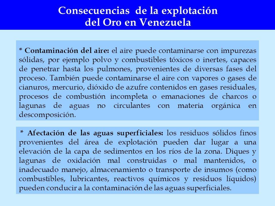 Consecuencias de la explotación del Oro en Venezuela