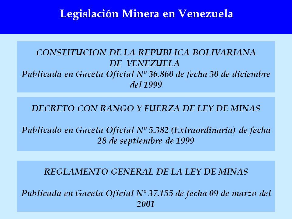 Legislación Minera en Venezuela