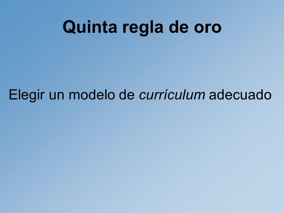 Elegir un modelo de currículum adecuado