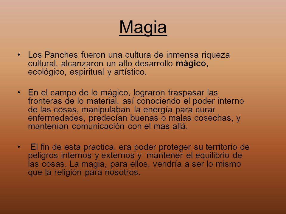 Magia Los Panches fueron una cultura de inmensa riqueza cultural, alcanzaron un alto desarrollo mágico, ecológico, espiritual y artístico.