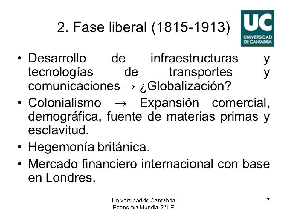Universidad de Cantabria Economía Mundial 2º LE