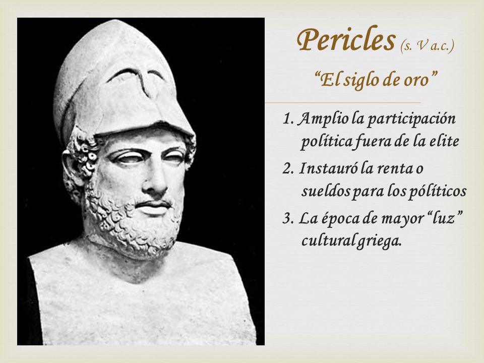 Pericles (s. V a.c.) El siglo de oro