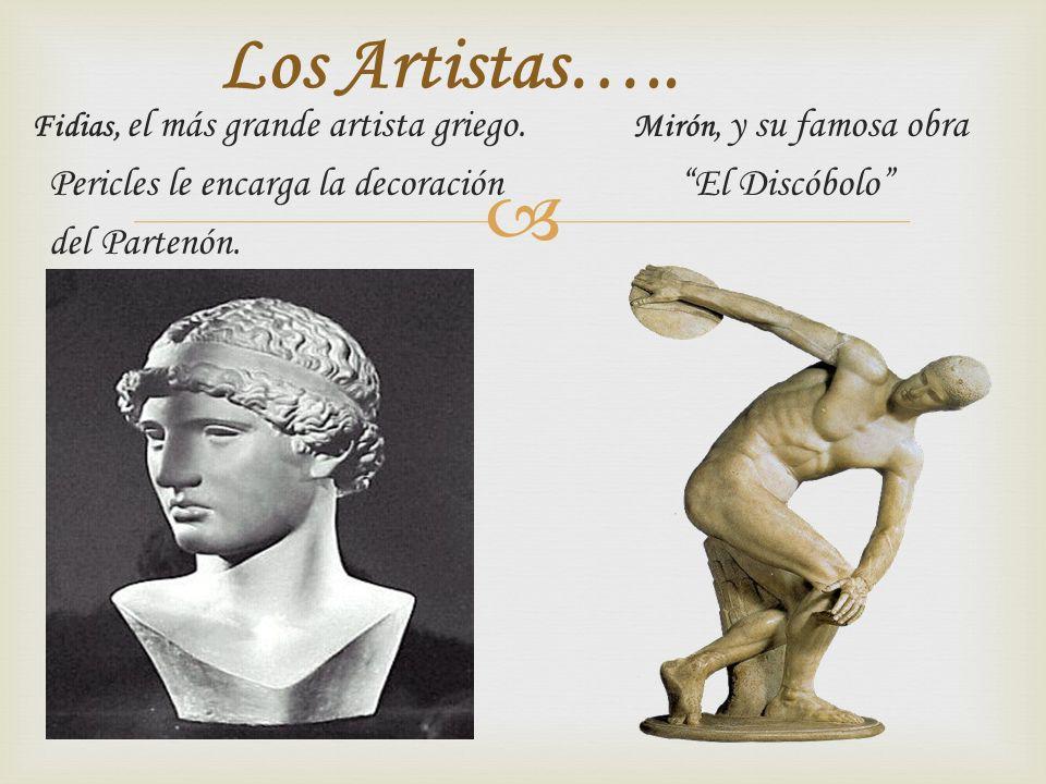 Los Artistas….. Pericles le encarga la decoración El Discóbolo