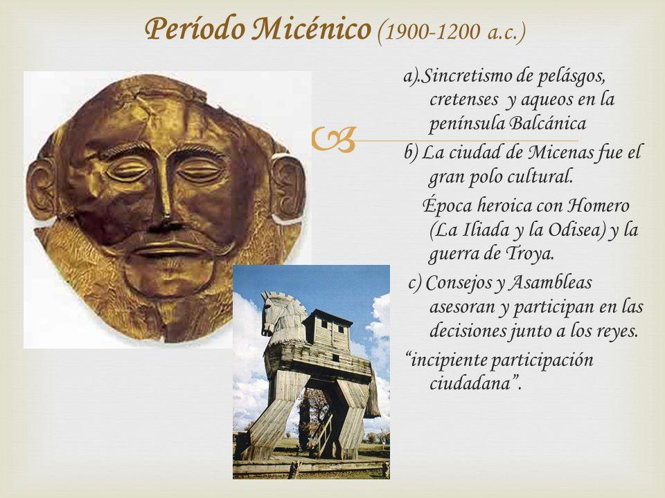 Período Micénico (1900-1200 a.c.)