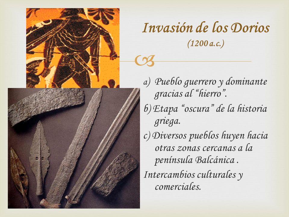 Invasión de los Dorios (1200 a.c.)