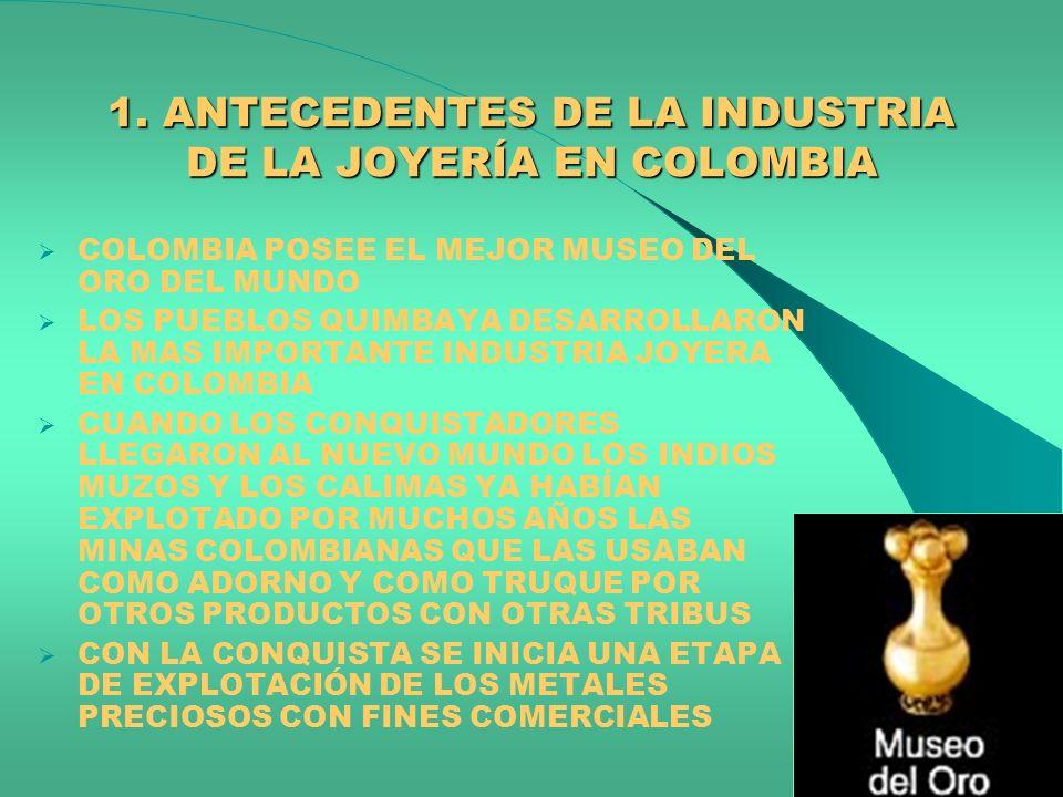 1. ANTECEDENTES DE LA INDUSTRIA DE LA JOYERÍA EN COLOMBIA