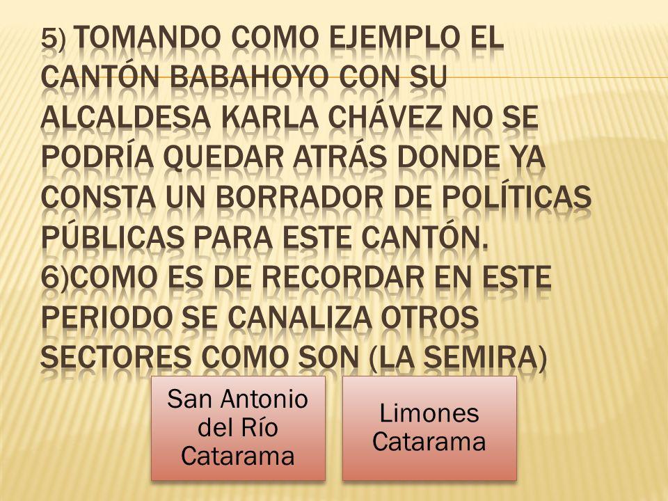 San Antonio del Río Catarama