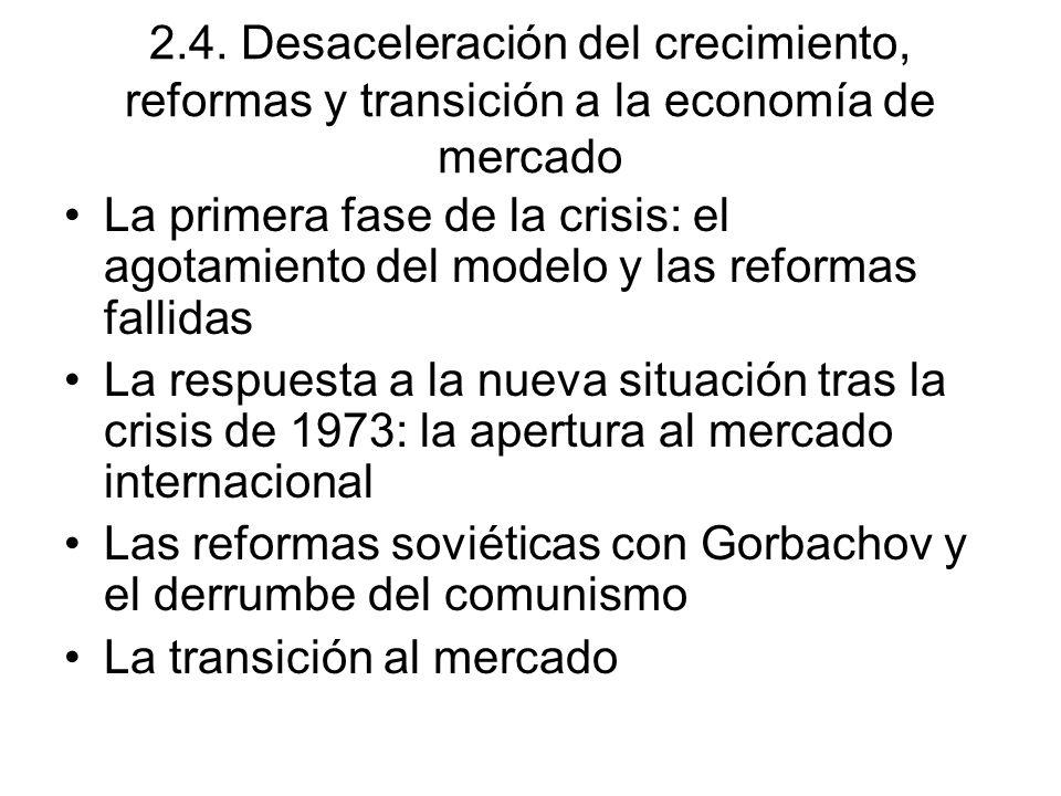 2.4. Desaceleración del crecimiento, reformas y transición a la economía de mercado